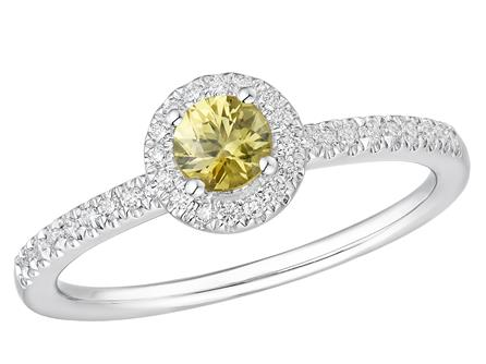 Haakonsen agh Safir yellow  ring med diamanter